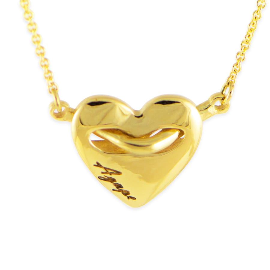 Gold Agape heart